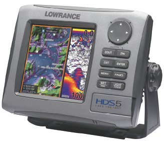 lowrance hds 5 high definition fishfinder gps combo : : top fish, Fish Finder